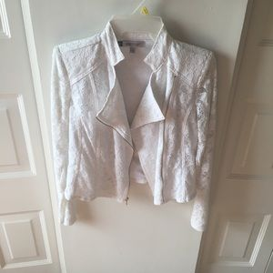 Jennifer Lopez Jackets & Coats - Jennifer Lopez White Lace Jacket!